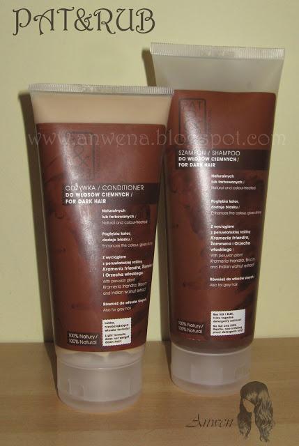 Recenzje kosmetyków cz. XXV – Szampon i odżywka do włosów ciemnych – PAT&RUB