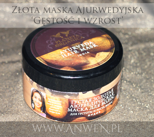 Recenzje kosmetyczne cz. XXXVIII – Złota maska ajurwedyjska 'Gęstość i Wzrost'