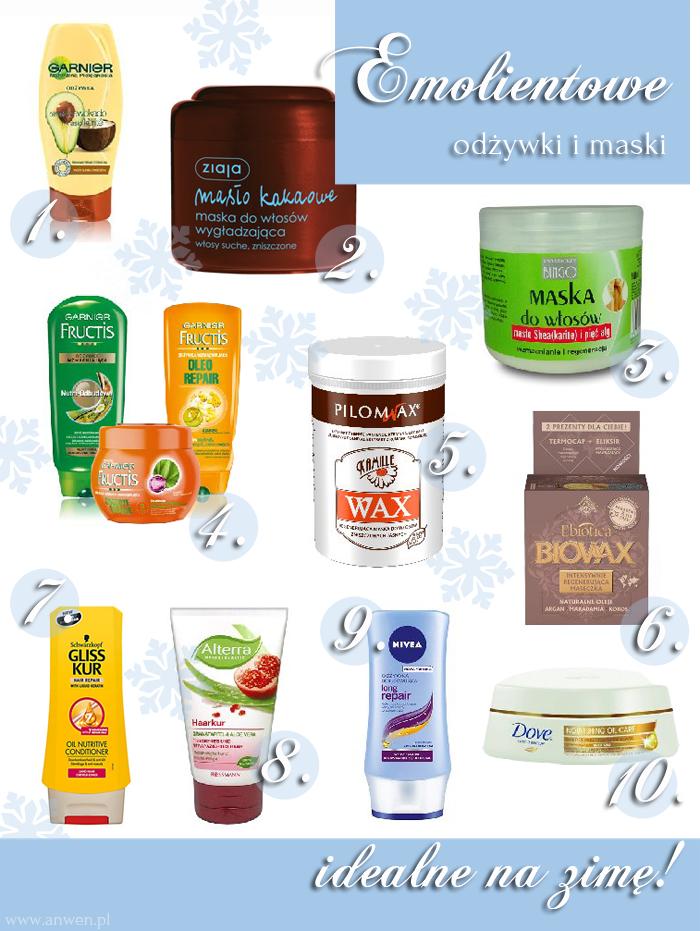 Emolientowe odżywki i maski idealne na zimę :)
