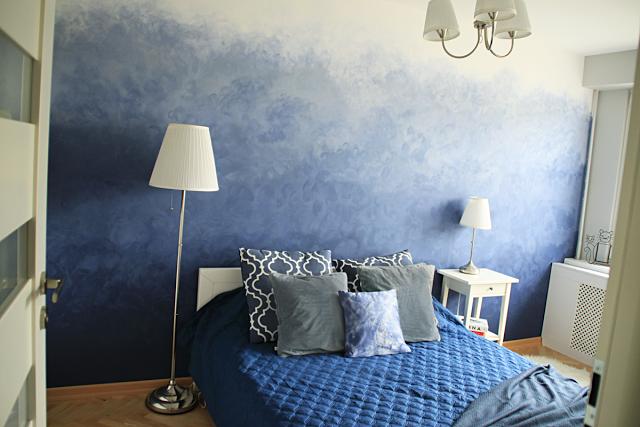 Projekt nowy dom: sypialnia i ściana ombre DIY