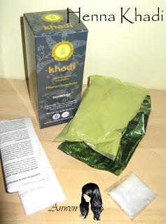 Farbowanie Henną – recenzja farby Khadi – kolor czarny