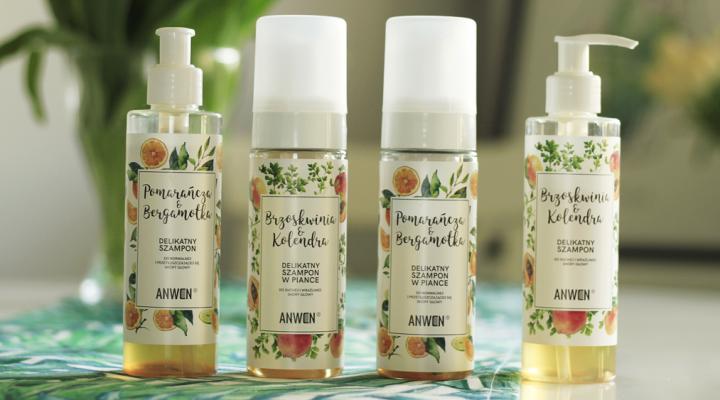 Delikatne szampony Anwen, pianka czy tradycyjny?